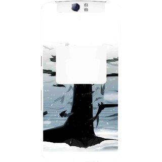 Snooky Printed Black Bats Mobile Back Cover For Oppo N1 - Multi