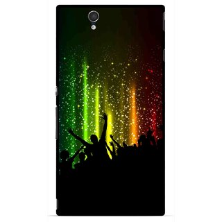 Snooky Printed Party Time Mobile Back Cover For Sony Xperia Z - Multicolour