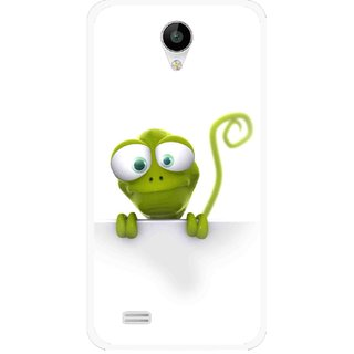 Snooky Printed Seeking Alien Mobile Back Cover For Vivo Y22 - White