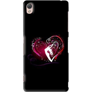 Snooky Printed Lady Heart Mobile Back Cover For Sony Xperia Z3 - Multi