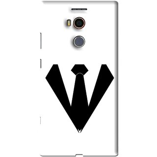 Snooky Printed Tie Collar Mobile Back Cover For Gionee Elife E8 - Multi