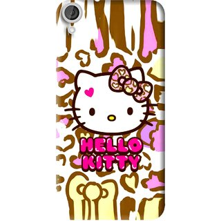 Snooky Printed Cute Kitty Mobile Back Cover For HTC Desire 820 - Multi