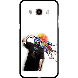 Snooky Printed Shooting Joker Mobile Back Cover For Samsung Galaxy J7 (2016) - Multicolour