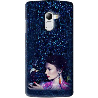 Snooky Printed Blue Lady Mobile Back Cover For Lenovo K4 Note - Multi