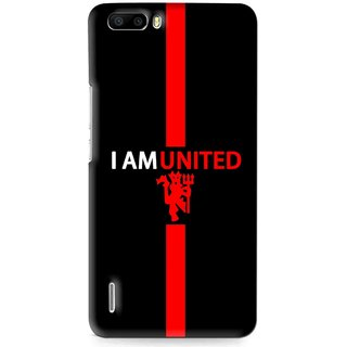 Snooky Printed United Mobile Back Cover For Huawei Honor 6 Plus - Multi