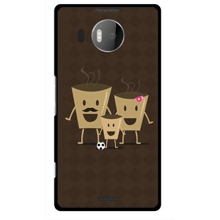 Snooky Printed Wake Up Coffee Mobile Back Cover For Microsoft Lumia 950 XL - Brown