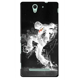 Snooky Printed Dance Mania Mobile Back Cover For Sony Xperia C3 - Multicolour