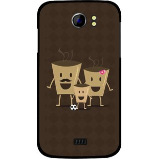 Snooky Printed Wake Up Coffee Mobile Back Cover For Micromax Canvas 2 A110 - Brown