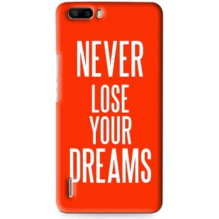 Snooky Printed Never Loose Mobile Back Cover For Huawei Honor 6 Plus - Multi