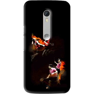 Snooky Printed Sports Player Mobile Back Cover For Motorola Moto X Play - Multi