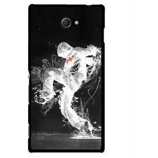 Snooky Printed Dance Mania Mobile Back Cover For Sony Xperia M2 - Multicolour