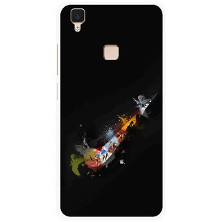 Snooky Printed All is Right Mobile Back Cover For Vivo V3 - Multi