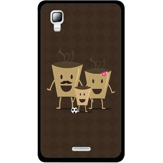 Snooky Printed Wake Up Coffee Mobile Back Cover For Micromax Canvas Doodle 3 A102 - Brown