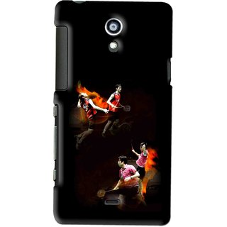 Snooky Printed Sports Player Mobile Back Cover For SONY XPERIA T - Multi