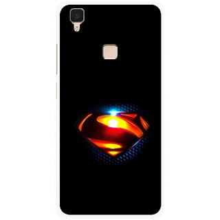 Snooky Printed Super Hero Mobile Back Cover For Vivo V3 - Multi