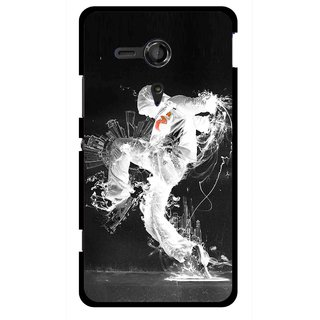 Snooky Printed Dance Mania Mobile Back Cover For Sony Xperia SP - Multicolour