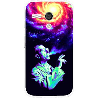 Snooky Printed Universe Mobile Back Cover For Moto G - Multi