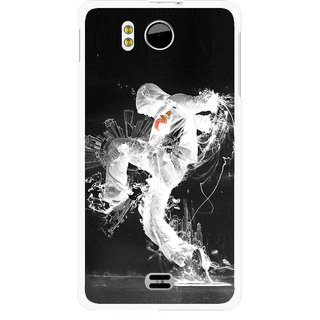 Snooky Printed Dance Mania Mobile Back Cover For Micromax Canvas DOODLE A111 - Multicolour