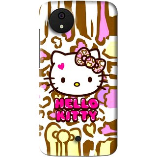 Snooky Printed Cute Kitty Mobile Back Cover For Micromax Canvas Android One - Multi