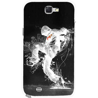 Snooky Printed Dance Mania Mobile Back Cover For Samsung Galaxy Note 2 - Multicolour