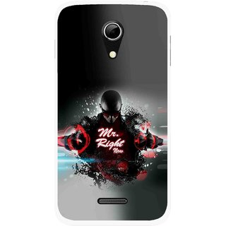 Snooky Printed Mr.Right Mobile Back Cover For Micromax A114 - Multicolour