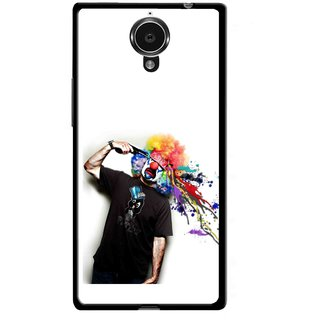 Snooky Printed Shooting Joker Mobile Back Cover For Gionee Elife E7 - Multicolour