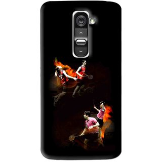 Snooky Printed Sports Player Mobile Back Cover For Lg G2 - Multi