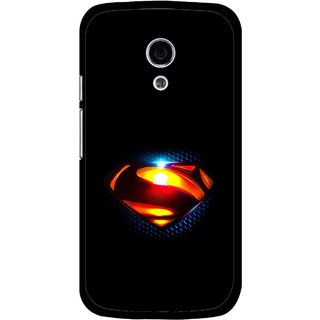 Snooky Printed Super Hero Mobile Back Cover For Moto G2 - Multi