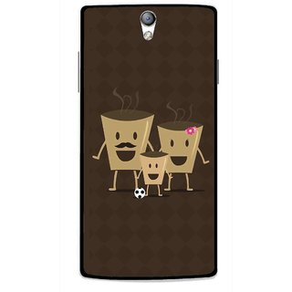 Snooky Printed Wake Up Coffee Mobile Back Cover For Oppo Find 5 Mini - Brown