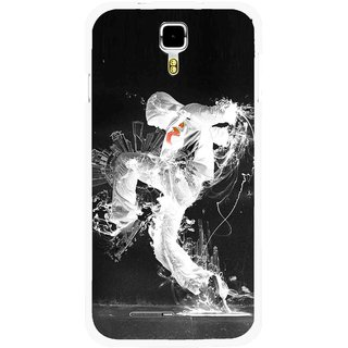 Snooky Printed Dance Mania Mobile Back Cover For Micromax Canvas Juice A177 - Multicolour