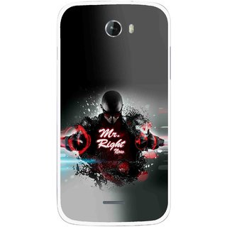 Snooky Printed Mr.Right Mobile Back Cover For Micromax Bolt A068 - Multicolour
