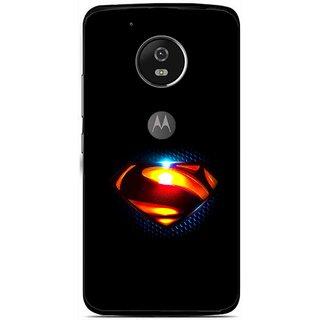 Snooky Printed Super Hero Mobile Back Cover For Moto G5 - Multi