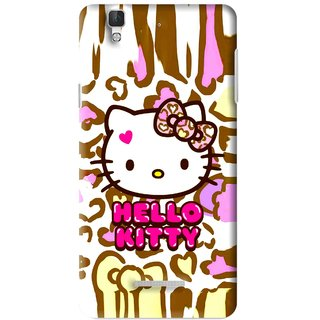 Snooky Printed Cute Kitty Mobile Back Cover For Micromax YU YUREKA - Multi