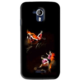 Snooky Printed Sports Player Mobile Back Cover For Micromax Canvas Magnus A117 - Multi