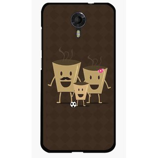 Snooky Printed Wake Up Coffee Mobile Back Cover For Micromax Canvas Xpress 2 E313 - Brown