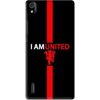 Snooky Printed United Mobile Back Cover For Huawei Ascend P7 - Multi