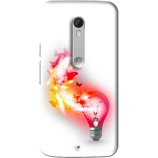 Snooky Printed Butterly Bulb Mobile Back Cover For Motorola Moto X Play - Multi