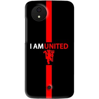 Snooky Printed United Mobile Back Cover For Micromax Canvas Android One - Multi