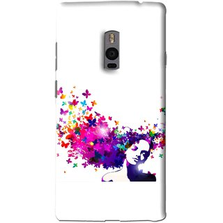 Snooky Printed Flowery Girl Mobile Back Cover For OnePlus 2 - Multi
