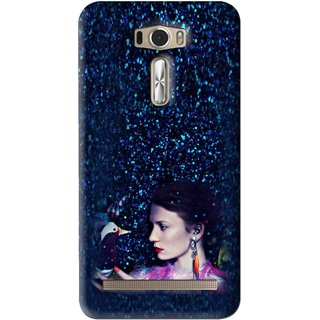 Snooky Printed Blue Lady Mobile Back Cover For Asus Zenfone 2 Laser ZE601KL - Multi