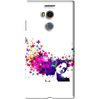 Snooky Printed Flowery Girl Mobile Back Cover For Gionee Elife E8 - Multi