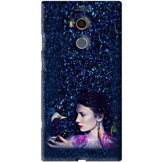 Snooky Printed Blue Lady Mobile Back Cover For Gionee Elife E8 - Multi