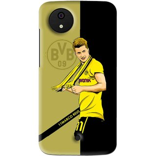 Snooky Printed Sports Player Mobile Back Cover For Micromax Canvas Android One - Multi