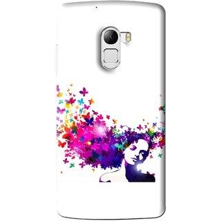 Snooky Printed Flowery Girl Mobile Back Cover For Lenovo K4 Note - Multi
