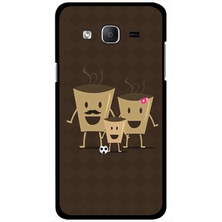Snooky Printed Wake Up Coffee Mobile Back Cover For Samsung Galaxy On5 - Brown