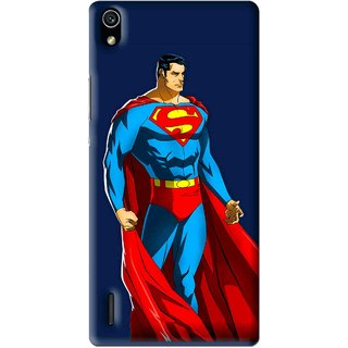 Snooky Printed Super Hero Mobile Back Cover For Huawei Ascend P7 - Multi