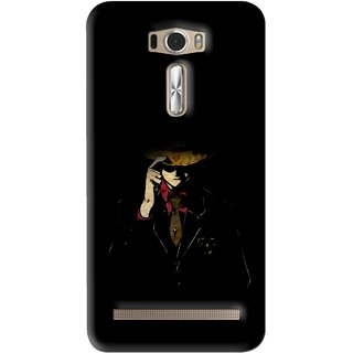 Snooky Printed Cow Bow Mobile Back Cover For Asus Zenfone 2 Laser ZE601KL - Multi