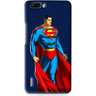 Snooky Printed Super Hero Mobile Back Cover For Huawei Honor 6 Plus - Multi