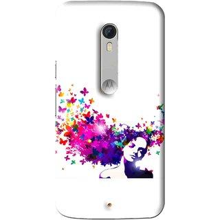 Snooky Printed Flowery Girl Mobile Back Cover For Motorola Moto X Play - Multi