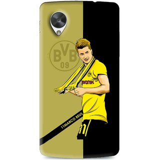 Snooky Printed Sports Player Mobile Back Cover For Lg Google Nexus 5 - Multi
